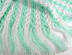 Broomstick Lace Baby Afghan