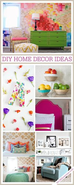 Loving these AMAZING DIY Home Decor Ideas. Bright colors and bold prints look great in your home!