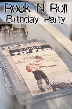 Rock N Roll Birthday Party #rocknroll #birthday #diyparty SouthernRevivals.com