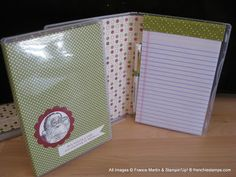 Great note pad holder. Santa's List frenchiestamps.com