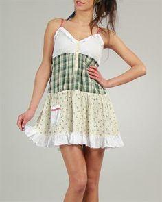 Ian Mosh Flared & Ruffled Dress