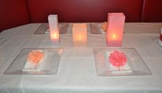 tissue flower napkin rings and luminaries {inspired by martha stewart}