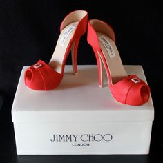 Shoe cake shoes, red, jimmi choo, heel, shoe cakes, jimmy choo, party cakes, choo cake, birthday cakes