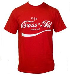 Crossfit Mens ENJOY Crossfit T-shirt RED Cross Fit workout on Etsy, $12.99