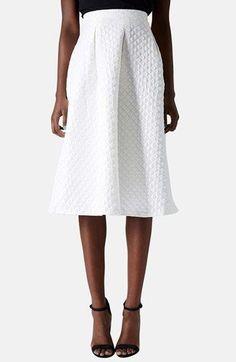 Topshop Diamond Jacquard Midi Skirt available at #Nordstrom