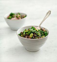 black rice vegetable pilaf