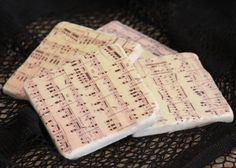 Music Sheet Coasters via Etsy