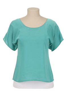 Cold Shoulder Scoop Neck Top available at #Maurices