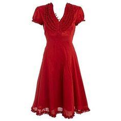 Red ruffle neck shirt dress - Day dresses - Dresses - Womens - Debenhams