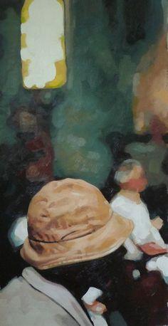 "thomas saliot; Oil, Painting ""Soul Hat"""