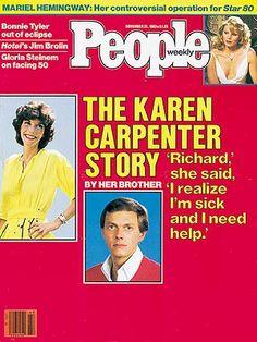 photo | Famous Family Tragedies, Anorexia, Battling Illnesses, Karen Carpenter Cover, Karen Carpenter, Mariel Hemingway, Richard Carpenter