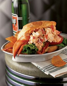 lobster rolls, sandwiches, lunch recip, food, bacon