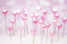 Pretty Pink Hearts (5x7)--pokey little stick pin hearts