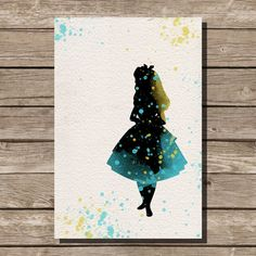 Alice in Wonderland disney watercolor illustrations art children's room wall art art home decor nursery art on Etsy, $15.00