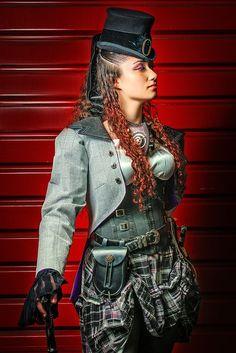 Scottish Steampunk Woman.