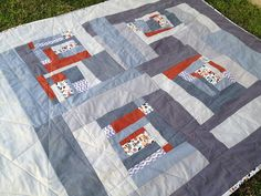 wonky log cabin quilt