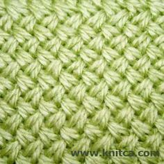 Right side of knitting stitch pattern - Cable 1