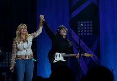 "Alabama frontman #RandyOwen brings out #TrishaYearwood for a surprise performance of the band's GRAMMY-nominated track ""Forever's As Far As I'll Go"" on Nov. 4 at the #RymanAuditorium in Nashville, Tenn."