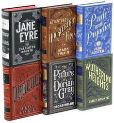 classic books with foil-stamped covers designed by jessica hische for barnes & noble