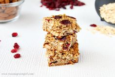 ginger granola bars healthy snacks, granola bars, food, breakfast, cooki, ginger granola, bar recipes, gingers, snack bars