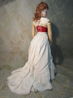17 French Fashion W/ Incredible Antique Gown and Rare Body Style from mllebereux on Ruby Lane