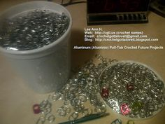 Pull tabs for crocheting (recycling)