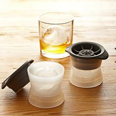these are cool! Silicone Ice Sphere Molds, Set of 2.