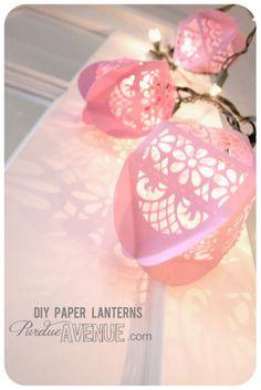 DIY  Lanterns: DIY Pretty Paper Lanterns
