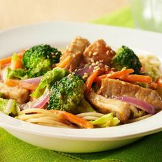 Sweet Asian Pork Stir-Fry / This recipe is diabetic friendly. Has 30 grams of carbs per serving. Only 276 calories.