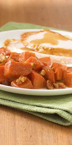 ... sweet potatoes cooked in the microwave and finished with brown sugar