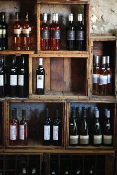 crates for wine storage - for the cellar or the basement!