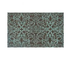 Jeffers Rug, Brown/Teal