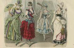 Fabulous bustle masquerade dresses