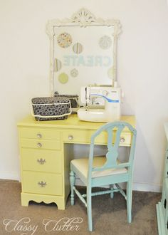 This is exactly the style of desk that I need to find for my sewing machine.