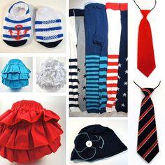 4th of july baby socks
