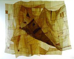 "Chungie Lee ""Breeze"" Hemp patchwork, 6' x 6', 2000"