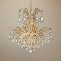 "Vienna Full Spectrum Palais Gold Crystal 18"" Wide Chandelier"