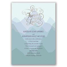 Nature's Inspiration Foil Wedding Invitation - Silver at Invitations By Dawn