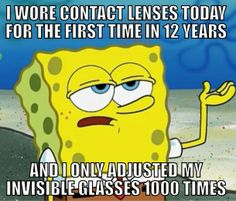 I have this issue after a day in glasses