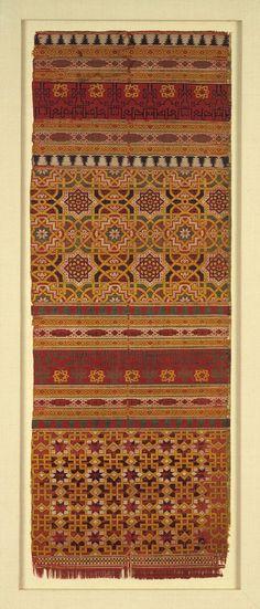 Textile fragment, 14th century; Nasrid  Spain