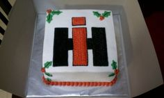 Case IH Christmas cake By HRVzD on CakeCentral.com
