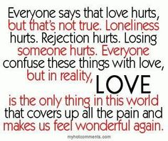 love doesn't hurt...