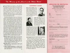 18th Ecumenical Student Conference on the Christian World Mission Registration Brochure :: Ohio Memory Collection. Martin Luther King, Jr. Visit Materials, RG 007. :: Ohio University Archives
