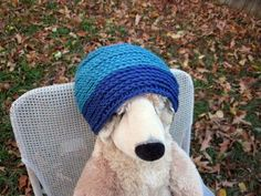 Crochet Braid Two Tone Beanie Hat by kakers for $25.00