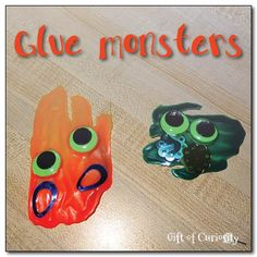 Glue monsters creative craft project || Gift of Curiosity