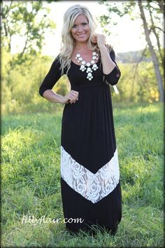 Simple and Sweet maxi in BLACK - Filly Flair