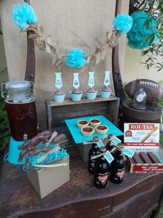 You have to check out this VINTAGE FATHER'S DAY DESSERT TABLE + PARTY on www.KarasPartyIdeas.com! So many fun ideas if you're trying to plan something special and easy {with printables} for father's day!