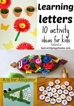 Learn with Play at Home: 10 Activities for Learning Letters