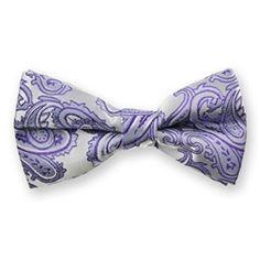 Light Purple Paisley Bow Tie