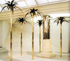 #gold #palm #trees